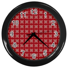 Christmas Paper Pattern Wall Clocks (Black)