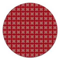 Christmas Paper Pattern Magnet 5  (Round)