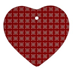 Christmas Paper Pattern Heart Ornament (Two Sides)
