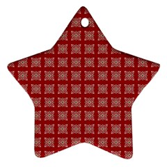 Christmas Paper Pattern Star Ornament (Two Sides)