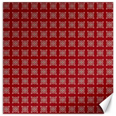 Christmas Paper Pattern Canvas 20  X 20