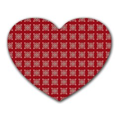 Christmas Paper Pattern Heart Mousepads