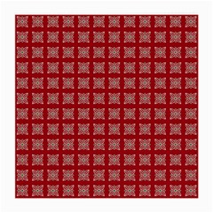 Christmas Paper Pattern Medium Glasses Cloth (2-Side)