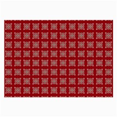 Christmas Paper Pattern Large Glasses Cloth