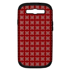 Christmas Paper Pattern Samsung Galaxy S III Hardshell Case (PC+Silicone)