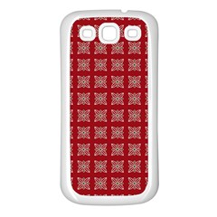 Christmas Paper Pattern Samsung Galaxy S3 Back Case (White)