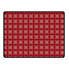 Christmas Paper Pattern Double Sided Fleece Blanket (small)