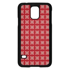 Christmas Paper Pattern Samsung Galaxy S5 Case (Black)