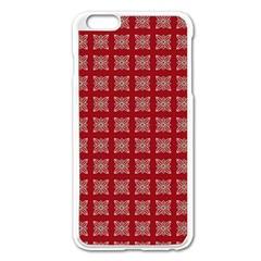 Christmas Paper Pattern Apple Iphone 6 Plus/6s Plus Enamel White Case