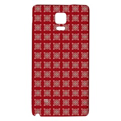 Christmas Paper Pattern Galaxy Note 4 Back Case