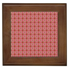 Christmas Paper Wrapping Pattern Framed Tiles