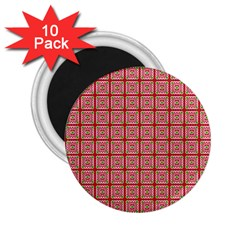 Christmas Paper Wrapping Pattern 2.25  Magnets (10 pack)