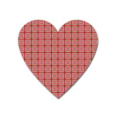 Christmas Paper Wrapping Pattern Heart Magnet