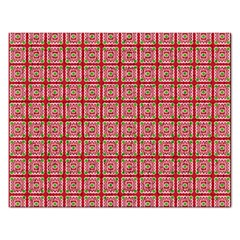 Christmas Paper Wrapping Pattern Rectangular Jigsaw Puzzl