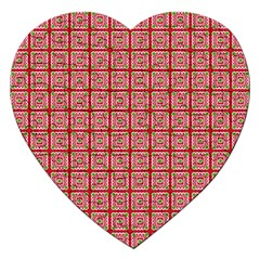 Christmas Paper Wrapping Pattern Jigsaw Puzzle (Heart)