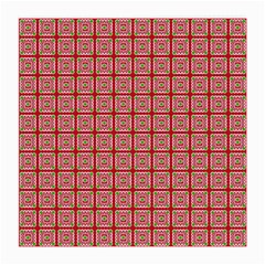 Christmas Paper Wrapping Pattern Medium Glasses Cloth