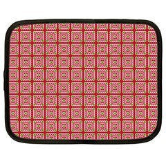 Christmas Paper Wrapping Pattern Netbook Case (large)