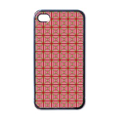 Christmas Paper Wrapping Pattern Apple iPhone 4 Case (Black)