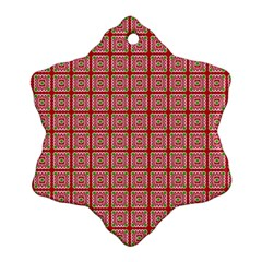 Christmas Paper Wrapping Pattern Ornament (Snowflake)