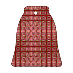Christmas Paper Wrapping Pattern Ornament (Bell)