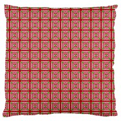 Christmas Paper Wrapping Pattern Large Cushion Case (one Side)