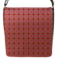 Christmas Paper Wrapping Pattern Flap Messenger Bag (S)