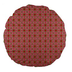 Christmas Paper Wrapping Pattern Large 18  Premium Flano Round Cushions