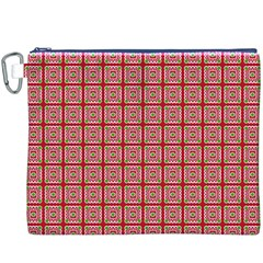 Christmas Paper Wrapping Pattern Canvas Cosmetic Bag (XXXL)