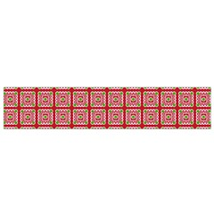 Christmas Paper Wrapping Pattern Flano Scarf (Small)