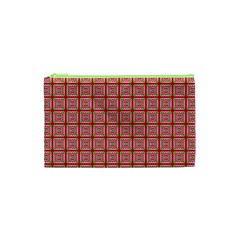 Christmas Paper Wrapping Pattern Cosmetic Bag (XS)