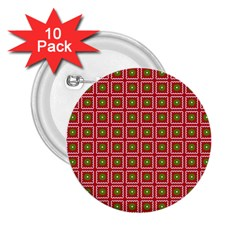 Christmas Paper Wrapping 2 25  Buttons (10 Pack)