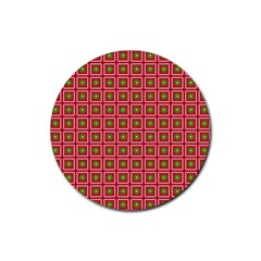 Christmas Paper Wrapping Rubber Round Coaster (4 pack)