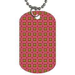 Christmas Paper Wrapping Dog Tag (two Sides)