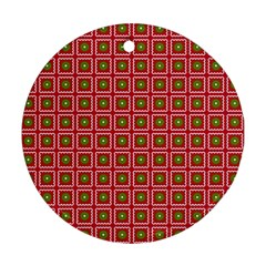 Christmas Paper Wrapping Round Ornament (Two Sides)