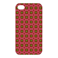 Christmas Paper Wrapping Apple Iphone 4/4s Premium Hardshell Case