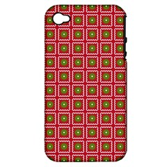 Christmas Paper Wrapping Apple Iphone 4/4s Hardshell Case (pc+silicone)
