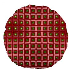 Christmas Paper Wrapping Large 18  Premium Round Cushions