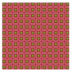 Christmas Paper Wrapping Large Satin Scarf (square)