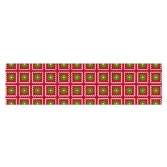 Christmas Paper Wrapping Satin Scarf (Oblong)