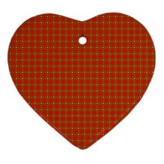 Christmas Paper Wrapping Paper Pattern Ornament (Heart)