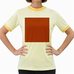 Christmas Paper Wrapping Paper Pattern Women s Fitted Ringer T-Shirts