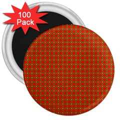 Christmas Paper Wrapping Paper Pattern 3  Magnets (100 pack)