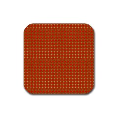 Christmas Paper Wrapping Paper Pattern Rubber Square Coaster (4 pack)