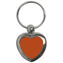 Christmas Paper Wrapping Paper Pattern Key Chains (Heart)