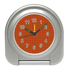 Christmas Paper Wrapping Paper Pattern Travel Alarm Clocks