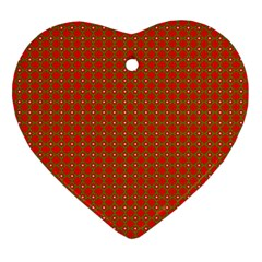 Christmas Paper Wrapping Paper Pattern Heart Ornament (Two Sides)
