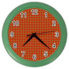 Christmas Paper Wrapping Paper Pattern Color Wall Clocks