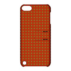 Christmas Paper Wrapping Paper Pattern Apple Ipod Touch 5 Hardshell Case With Stand