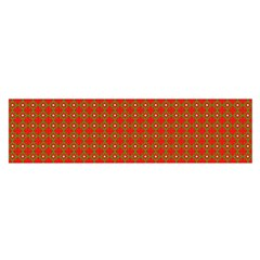 Christmas Paper Wrapping Paper Pattern Satin Scarf (Oblong)