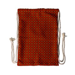 Christmas Paper Wrapping Paper Pattern Drawstring Bag (small)
